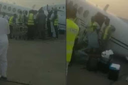 Nigerian Aircraft Collapses After Being Loaded With Lot Of Cash (Watch Video)