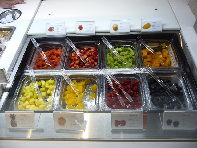 Pinkberry fruit toppings