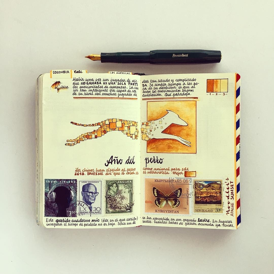 17-Vintage-Style-and-Vibrant-Jose-Naranja-Urban-Drawings-Travel-Journal-www-designstack-co