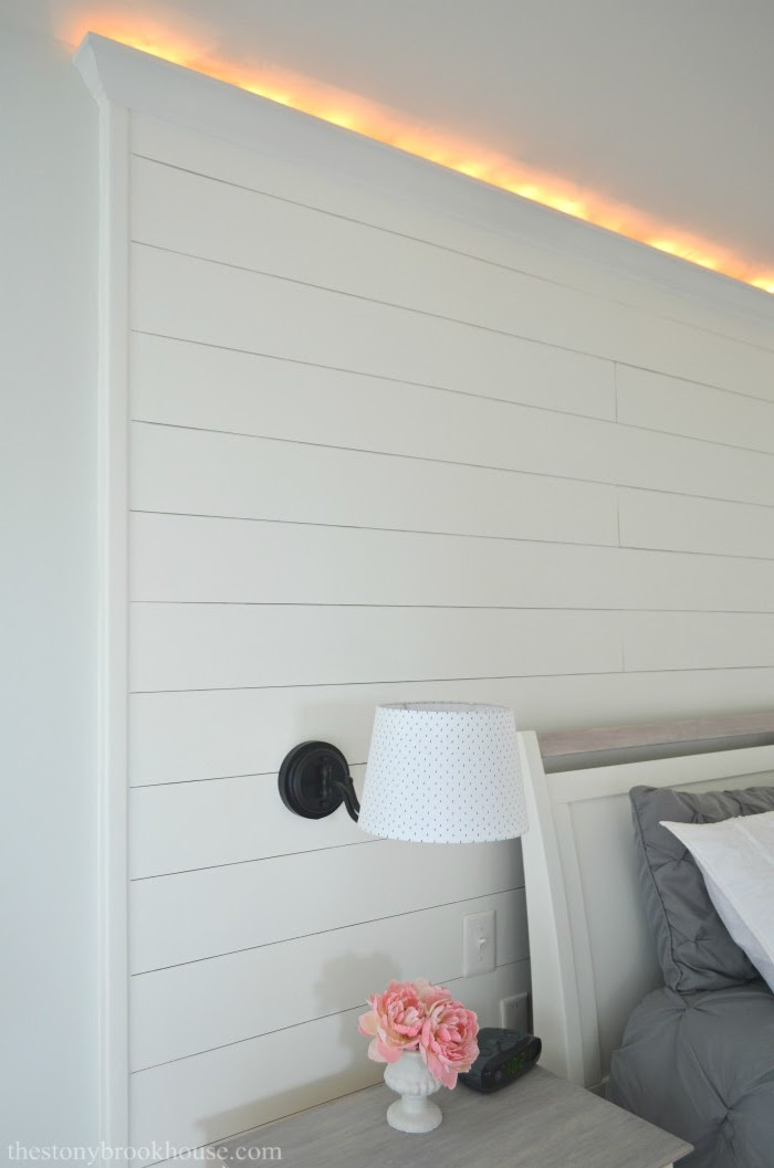 Shiplap Accent Wall w/lights Complete