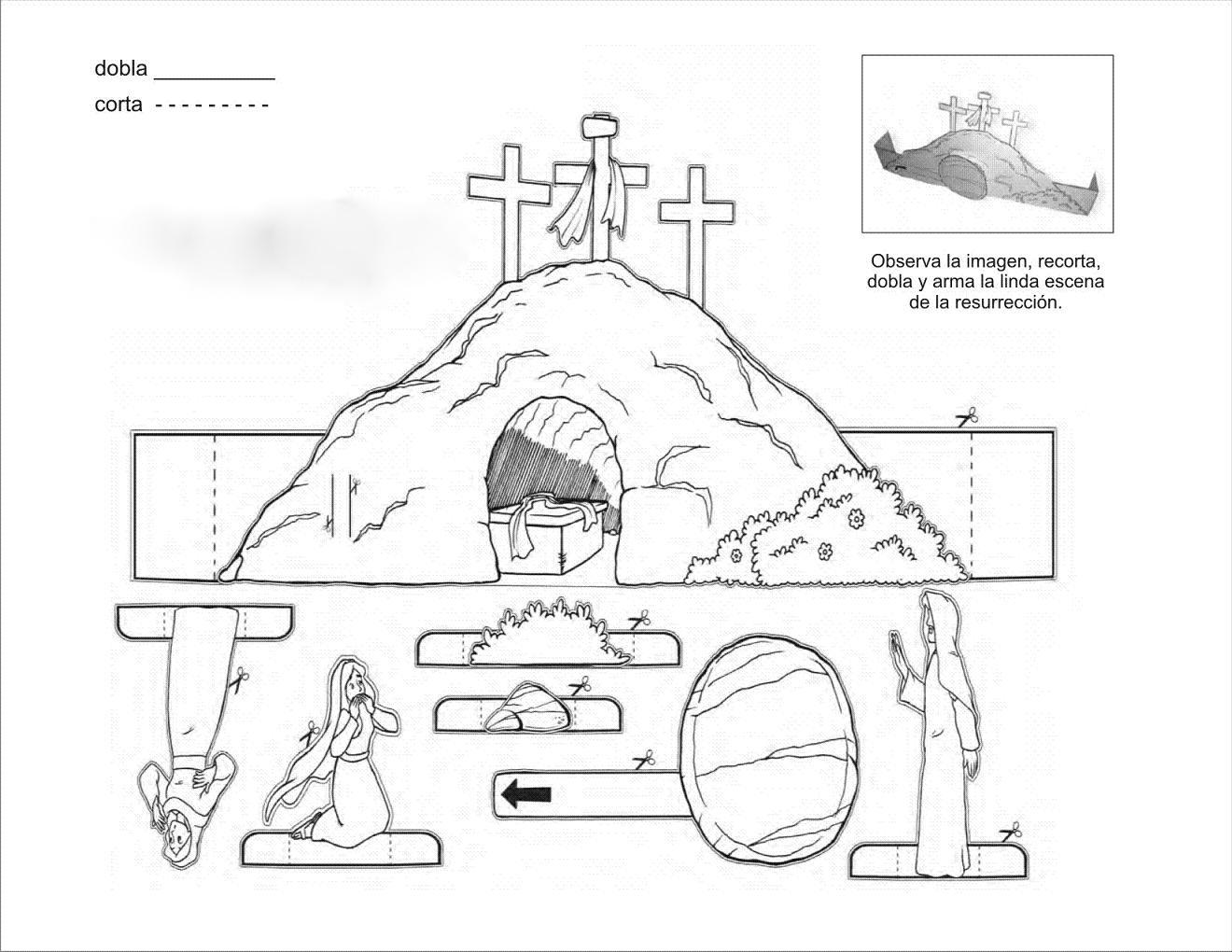 Encantador Jesús Para Colorear Páginas De Pascua Colección de ...