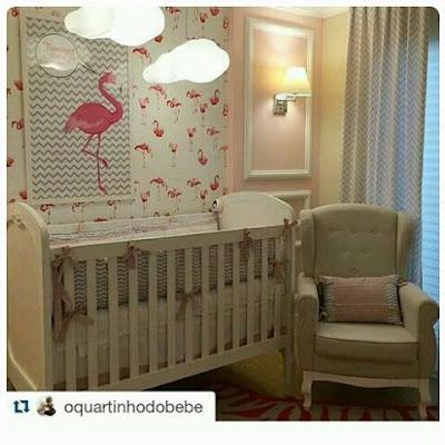 quarto-bebe-flamingos-decoração