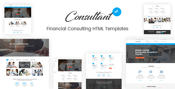 Financial consulting  HTMl template
