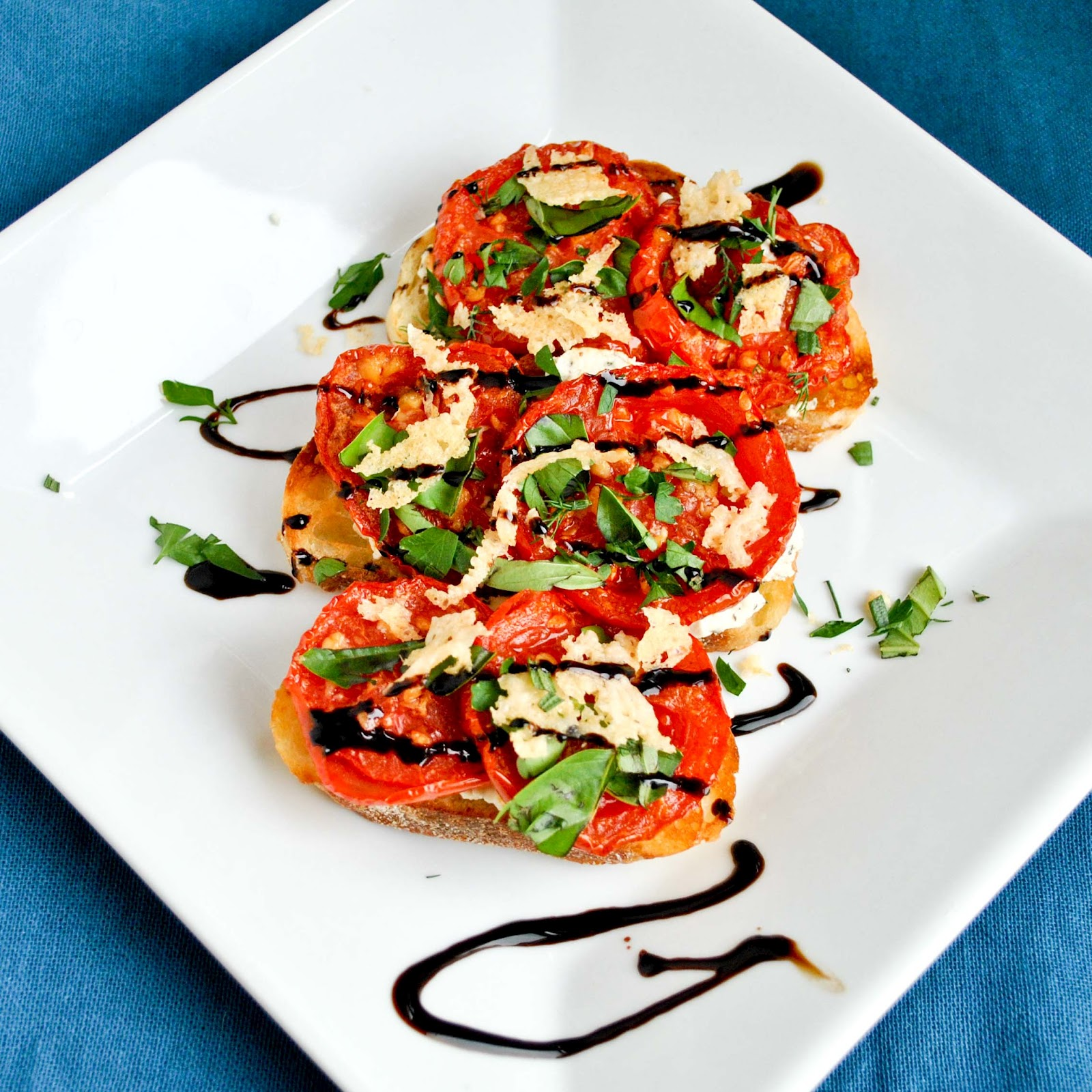 Roasted Tomato and Goat Cheese Open Face Sandwiches ...