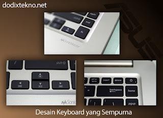 Review Asus VivoBook S15 S510UQ - desain keyboard