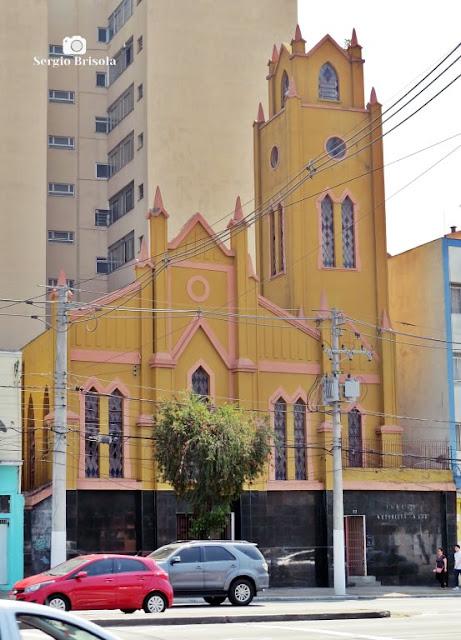 Vista ampla da Igreja Metodista na Luz - Bom Retiro - São Paulo