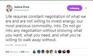 Jessica Dore Tweet--Negotiation