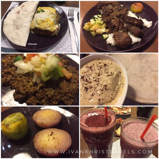 Food selection at Sultan Mediterranean Grill