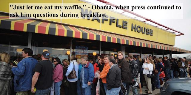 Just let me eat my waffles - Obama. FEMA and The Waffle House Index . marchmatron.com