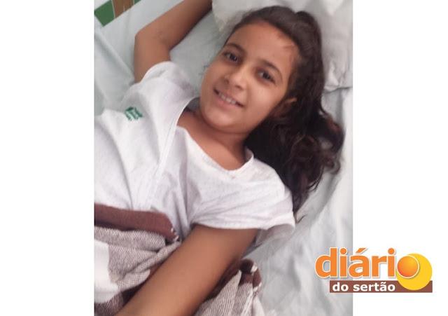 Em Brejo dos Santos, Menina de 10 anos diagnosticada com câncer precisa de ajuda para comprar medicação