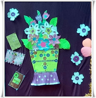 Flower Bucket and decorative flowers