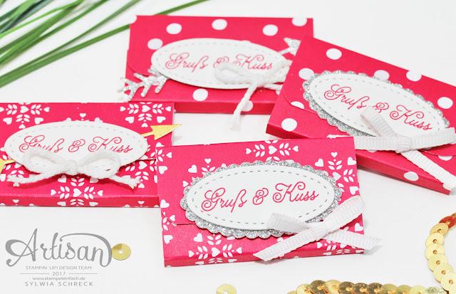 Schnelle Verpackung mit Stampin Up Designerpapier Liebe Grüße