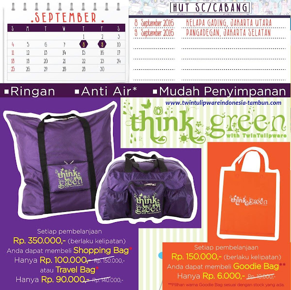 Promo Think green | September 2016