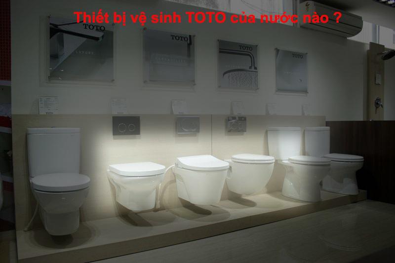 Thiết bị vệ sinh TOTO của nước nào ?