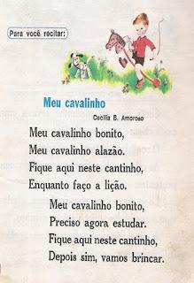 Poema Meu cavalinho