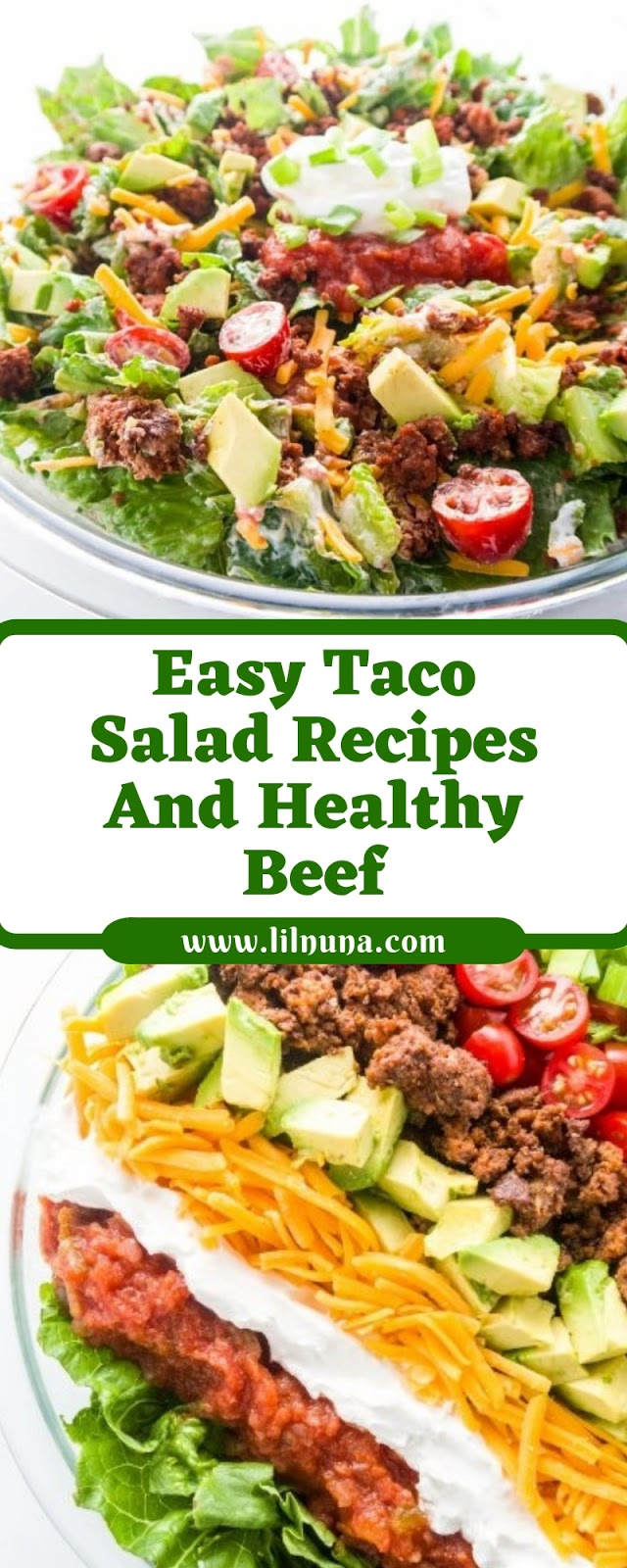 Easy Taco Salad Recipes And Healthy Beef