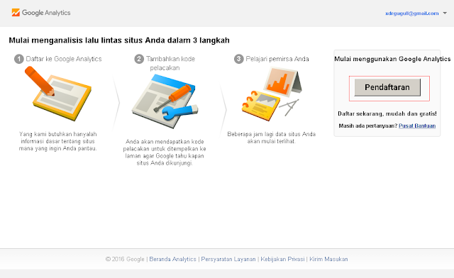 Cara memasang Google Analytics
