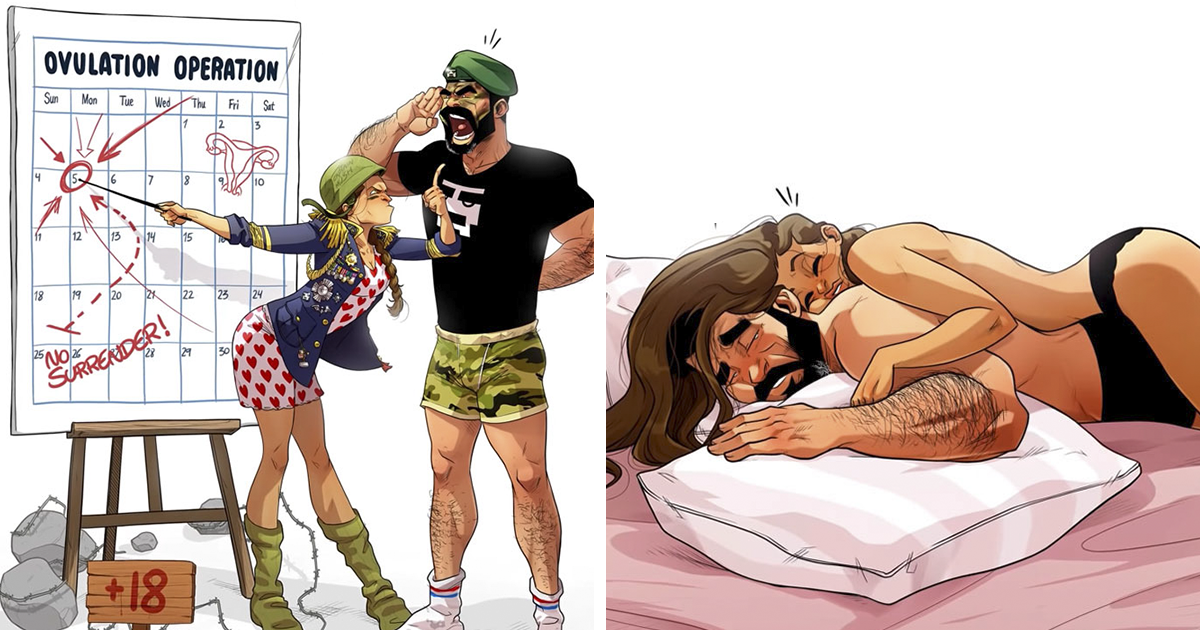 Artist Announces His Wife's Pregnancy Through 8 Adorable Comics