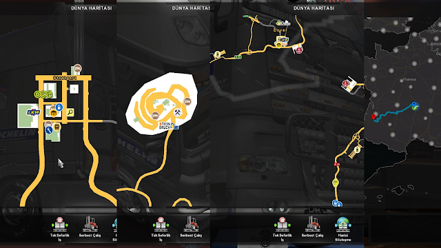 ets 2 google maps navigation night version v1.7 screenshots 3