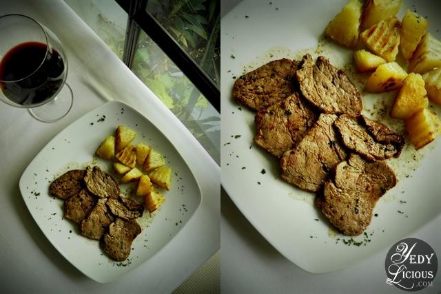 Beef Tenderloin Slices at Caruso