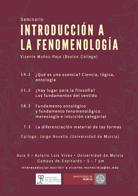 """Seminario """"Introducción a la Fenomenología""""."""