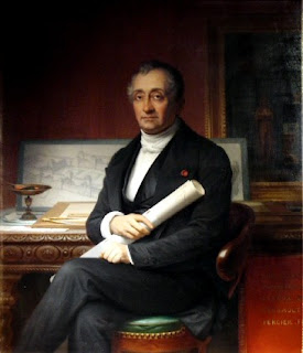The French painter Théophile Vauchelet's portrait of  the architect Louis Visconti.
