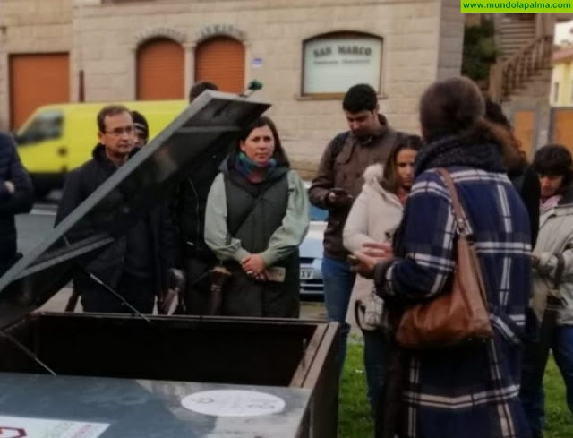 La alcaldesa de Villa de Mazo visita Pontevedra para conocer in situ su sistema de gestión de residuos