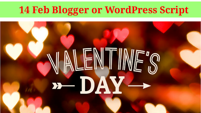 Valentines day Blogger and Wordpress Free Download