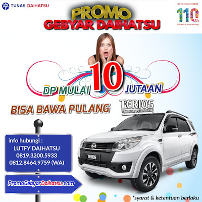 Promo Daihatsu Terios Jakarta Timur Dp Cuma 10 Jutaan