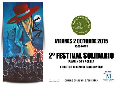 Cartel del 2º Festival Solidario del Comedor Santo Domingo
