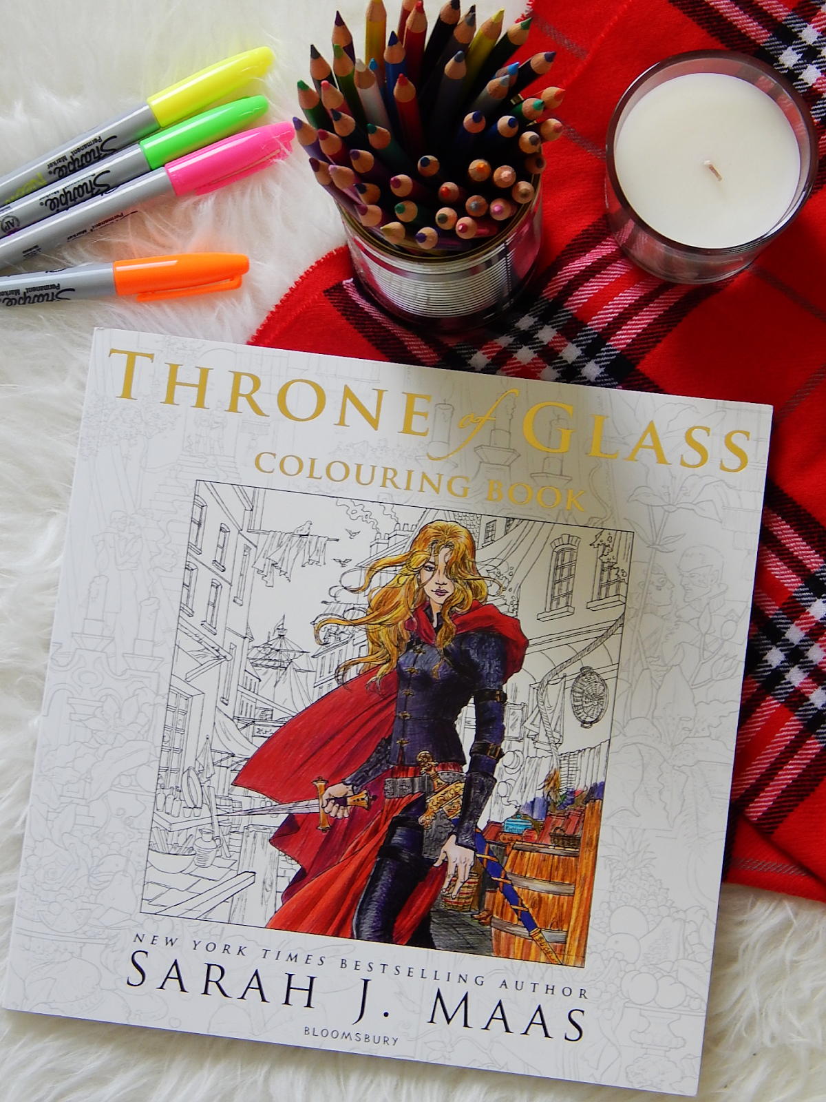 Throne Of Glass Colouring Book Review Sprinkled Pages A Book