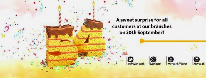Maybank Birthday Surprise, Maybank, Maybank 54th Anniversary Surprise