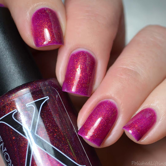 berry shimmer nail polish