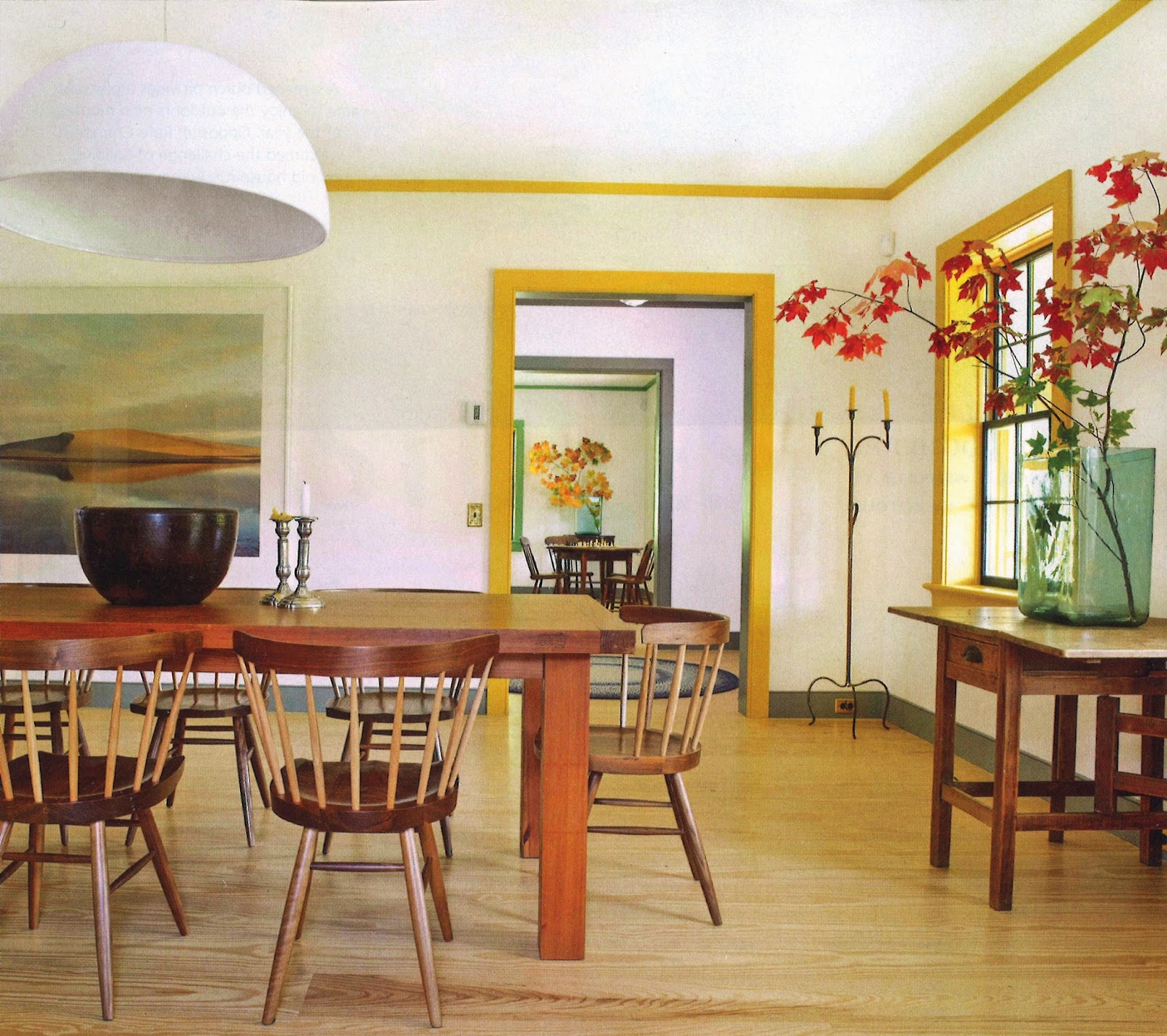 Yellow Dining Room Walls Accents Of Color Harrison Architect Designs