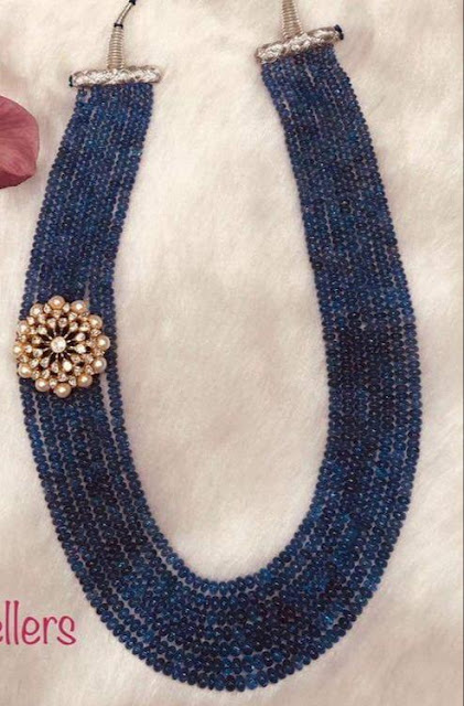 Multiple Layers Blue Beads Jewellery