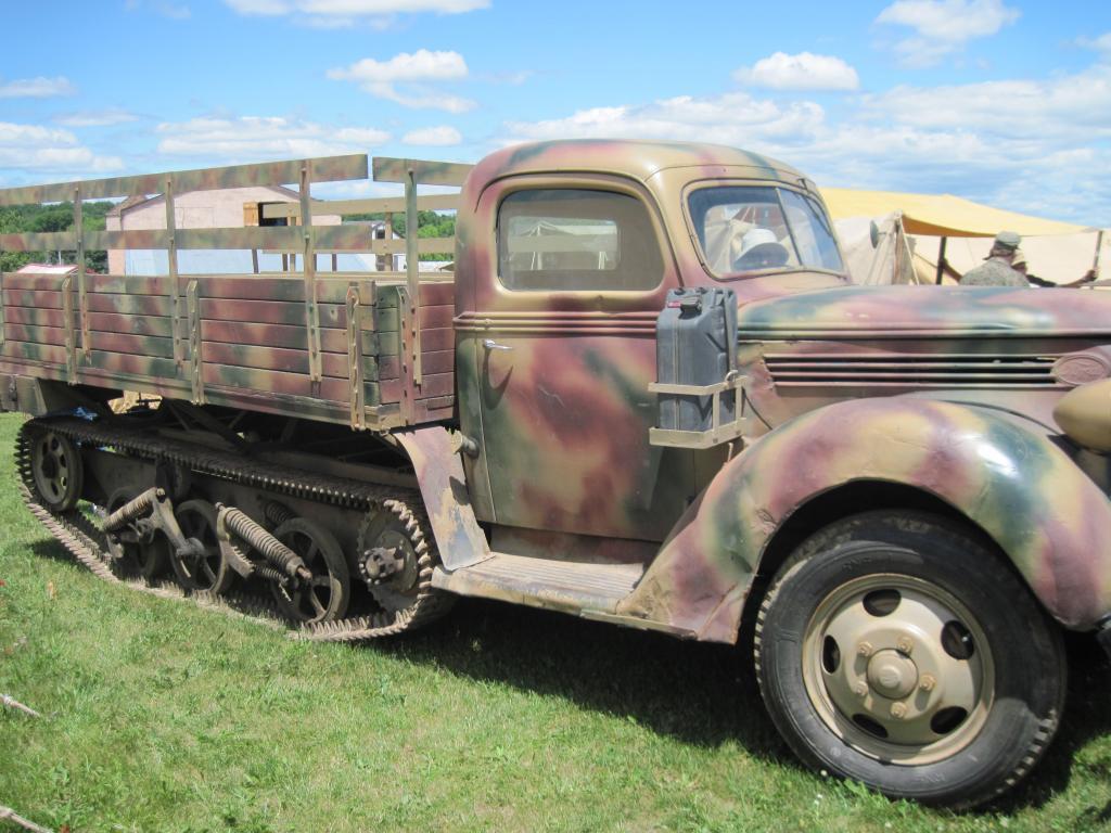 World War Two Military Half Tracks M3