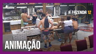 A Fazenda 12 – Mirella confessa se sentir mal – Peões preparam churrasco – Lipe mostra tatuagens