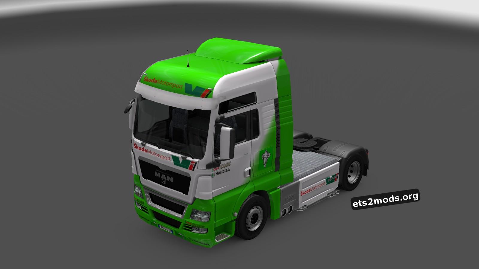 Man TGX Škoda Motorsport Skin