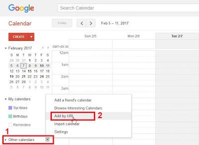 Google calendar add calendar by url