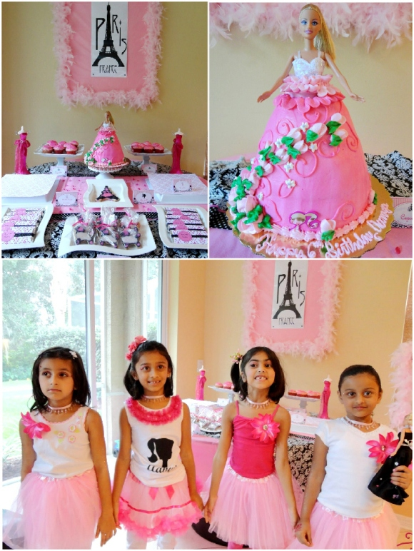 A Pink Glam Barbie Birthday Party - via BirdsParty.com
