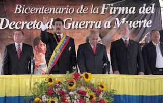 Celebración de Bicentenario del Decreto de Guerra a Muerte en Venezuela