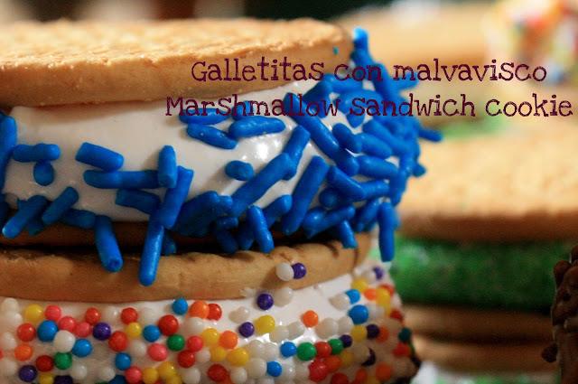 Galletitas con malvavisco / Marshmallow sandwich cookies