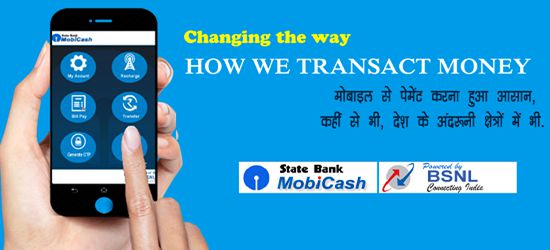 BSNL launched SBI Mobicash App M-wallet Service