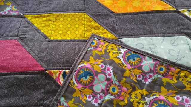 Rockslide quilt pattern by Slice of Pi Quilts