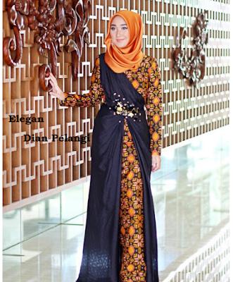 Baju batik pesta fashionable karya Dian Pelangi