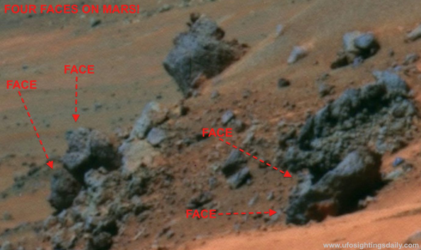 Four Alien Faces Found In NASA Mars Photo, Sept 2012 ...
