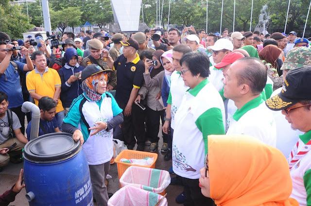 Menteri LHK Apresiasi Pengelolaan Sampah di Makassar