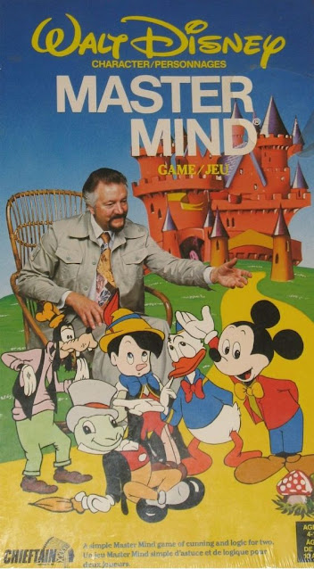 A vintage game for you and your children: Walt Disney Productions Character Mastermind!