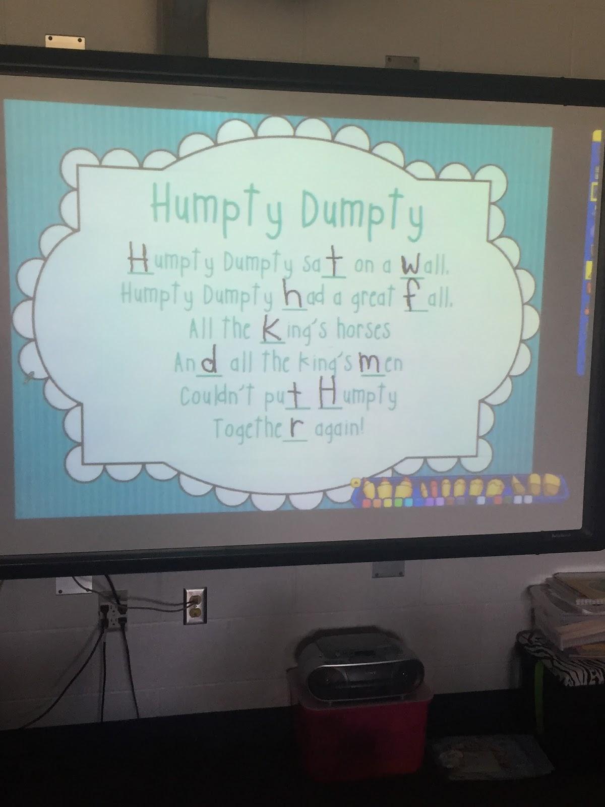 Kindergarten Is Grrreat Humpty Dumpty