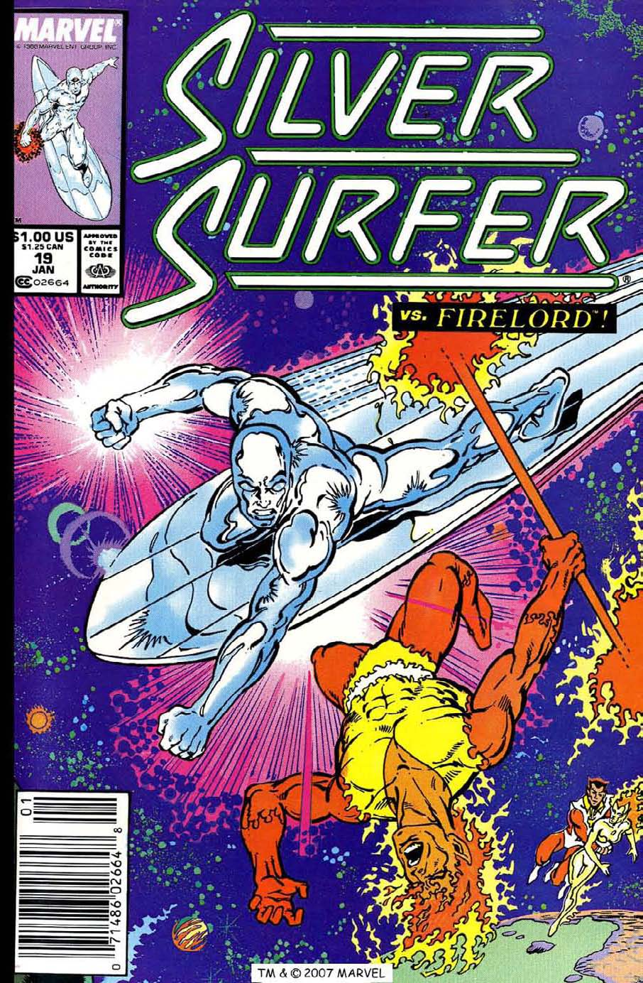 Read online Silver Surfer (1987) comic -  Issue #19 - 1